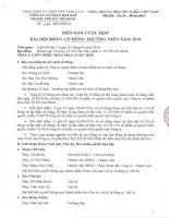 Nghị quyết Đại hội cổ đông thường niên - Công ty Cổ phần Kim khí Thành phố Hồ Chí Minh