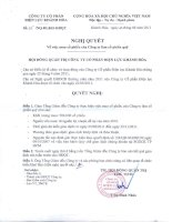 Nghị quyết Hội đồng Quản trị ngày 12-8-2011 - Công ty Cổ phần Điện lực Khánh Hòa
