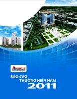 Báo cáo thường niên năm 2011 - Công ty Cổ phần Phát triển Hạ tầng Kỹ thuật