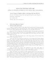 Báo cáo thường niên năm 2007 - Công ty Cổ phần Cơ điện và Xây dựng Việt Nam