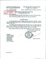 Nghị quyết Hội đồng Quản trị ngày 8-4-2011 - Công ty Cổ phần Cao su Hòa Bình