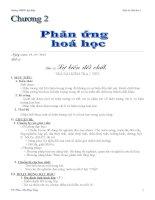 Giáo án sử dụng PP bàn tay nặn bột Hóa học 8 bài 12 sự biến đổi chất