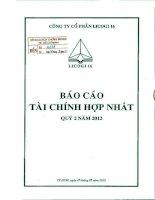 Báo cáo tài chính hợp nhất quý 2 năm 2012 - Công ty cổ phần LICOGI 16