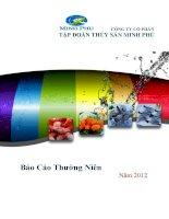 Báo cáo thường niên năm 2012 - Công ty Cổ phần Tập đoàn Thủy sản Minh Phú