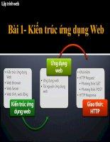 Giáo trình Thiết kế Webside mới nhất Visual Studio 2008 Bài 1: Kiến trúc ứng dụng Web