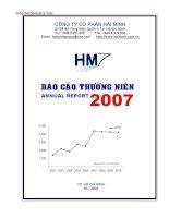 Báo cáo thường niên năm 2007 - Công ty Cổ phần Hải Minh