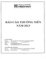 Báo cáo thường niên năm 2012 - Công ty Cổ phần Ngô Han