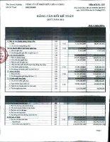 Báo cáo tài chính công ty mẹ quý 1 năm 2011 - Công ty Cổ phần Hữu Liên Á Châu