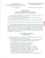 Nghị quyết Đại hội cổ đông thường niên - Công ty cổ phần Đầu tư và Xây dựng HUD3