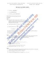 ĐỀ bài tập điều KIỆN môn học giải tích 2