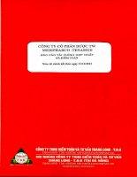 Báo cáo tài chính hợp nhất năm 2013 (đã kiểm toán) - Công ty Cổ phần Dược trung ương Medipharco - Tenamyd