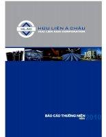 Báo cáo thường niên năm 2009 - Công ty Cổ phần Hữu Liên Á Châu