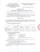 Nghị quyết Đại hội cổ đông thường niên năm 2012 - Công ty cổ phần Đầu tư, Thương mại và Dịch vụ - Vinacomin