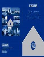 Báo cáo thường niên năm 2013 - Công ty Cổ phần Đầu tư Kinh doanh nhà Khang Điền