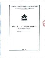 Báo cáo tài chính hợp nhất quý 4 năm 2011 - Công ty cổ phần Giống cây trồng Trung ương