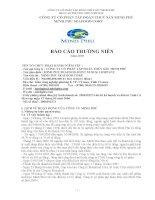 Báo cáo thường niên năm 2010 - Công ty Cổ phần Tập đoàn Thủy sản Minh Phú