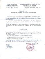 Nghị quyết Hội đồng Quản trị ngày 07-10-2011 - Công ty Cổ phần Điện lực Khánh Hòa