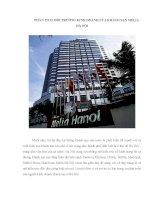 PHÂN TÍCH môi TRƯỜNG KINH DOANH của KHÁCH sạn MELIA hà nội