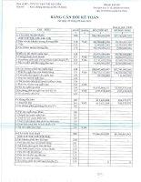 Báo cáo tài chính quý 3 năm 2015 - Công ty Cổ phần Vận tải Hà Tiên
