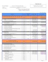 Báo cáo tài chính quý 3 năm 2011 - Công ty Cổ phần Minh Hữu Liên