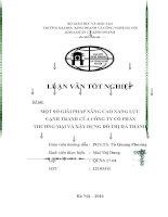 MỘT số GIẢI PHÁP NÂNG CAO NĂNG lực CẠNH TRANH của CÔNG TY cổ PHẦN THƯƠNG mại và xây DỰNG đô THỊ hà THÀNH