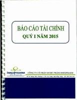 Báo cáo tài chính quý 1 năm 2015 - Công ty Cổ phần Dược phẩm IMEXPHARM