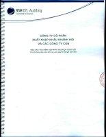 Báo cáo tài chính hợp nhất quý 2 năm 2014 (đã soát xét) - Công ty Cổ phần Đầu tư và Dịch vụ Khánh Hội