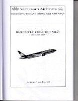 Báo cáo tài chính hợp nhất quý 2 năm 2015 - Tổng Công ty Hàng không Việt Nam-CTCP