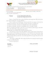 Báo cáo tài chính công ty mẹ quý 3 năm 2014 - Công ty Cổ phần Phát triển Hạ tầng Vĩnh Phúc