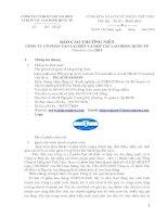 Báo cáo thường niên năm 2013 - CTCP Vận tải biển & Hợp tác Quốc tế