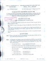 Nghị quyết Hội đồng Quản trị ngày 21-12-2009 - Công ty Cổ phần Đầu tư Năm Bảy Bảy
