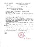 Báo cáo tài chính quý 2 năm 2012 - Công ty Cổ phần Gạch ngói Kiên Giang
