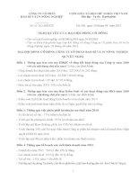 Nghị quyết đại hội cổ đông ngày 10-04-2011 - Công ty Cổ phần Bao bì và In Nông nghiệp