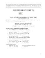 Bản cáo bạch - Công ty Cổ phần Xây dựng Cầu đường Hà Nội