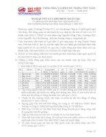 Nghị quyết Hội đồng Quản trị ngày 27-01-2011 - Công ty Cổ phần Gạch Ngói Nhị Hiệp