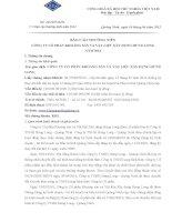 Báo cáo thường niên năm 2014 - Công ty cổ phần Khoáng sản và Vật liệu Xây dựng Hưng Long