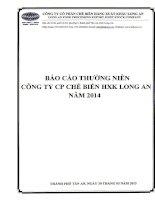 Báo cáo thường niên năm 2014 - Công ty Cổ phần Chế biến Hàng xuất khẩu Long An
