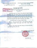 Nghị quyết Hội đồng Quản trị ngày 26-10-2010 - Công ty Cổ phần Đầu tư và Dịch vụ Khánh Hội