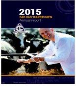 Báo cáo thường niên năm 2015 - Công ty Cổ phần Dược Thú y Cai Lậy