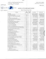 Báo cáo tài chính quý 1 năm 2014 - Công ty cổ phần Kim khí miền Trung