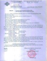 Báo cáo tài chính quý 3 năm 2014 - Công ty cổ phần Khoáng sản và Vật liệu Xây dựng Hưng Long