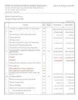 Báo cáo tài chính quý 2 năm 2008 - Công ty Cổ phần Chứng khoán Kim Long