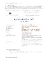 Báo cáo thường niên năm 2009 - Công ty Cổ phần Vận tải Hà Tiên