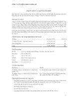 Báo cáo tài chính công ty mẹ quý 2 năm 2011 (đã soát xét) - Công ty Cổ phần Someco Sông Đà