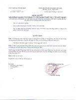 Nghị quyết Hội đồng Quản trị ngày 10-11-2011 - Công ty cổ phần Thiết bị Y tế Việt Nhật