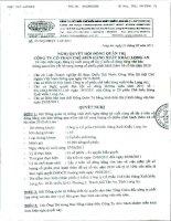 Nghị quyết Hội đồng Quản trị ngày 23-5-2011 - Công ty Cổ phần Chế biến Hàng xuất khẩu Long An