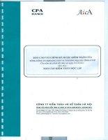 Báo cáo tài chính công ty mẹ năm 2015 (đã kiểm toán) - Tổng Công ty Khoáng sản và Thương mại Hà Tĩnh - CTCP