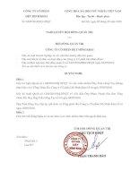 Nghị quyết Hội đồng Quản trị - Công ty cổ phần Dệt Minh Khai
