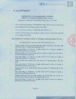 Nghị quyết Đại hội cổ đông thường niên năm 2009 - CTCP Tập đoàn Đầu tư I.P.A