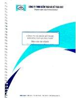Báo cáo tài chính công ty mẹ quý 2 năm 2015 (đã soát xét) - Công ty Cổ phần Kỹ nghệ Khoáng sản Quảng Nam
